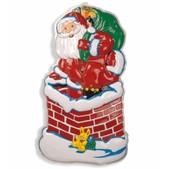 Decoración de pared de Papá Noel en chimenea
