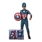 Disfraz de Capitán América Soldado de Invierno retro con escudo para niño