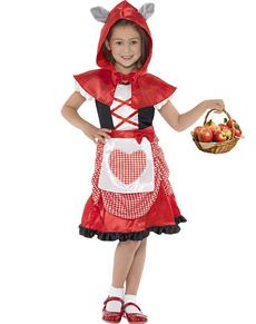 Disfraz de caperucita roja feroz para niña
