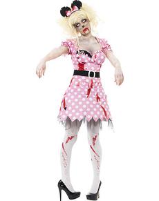 Disfraz de Minny zombie para mujer