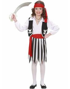 Disfraz de pirata brava para niña