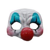 Media máscara de Payaso feliz de látex