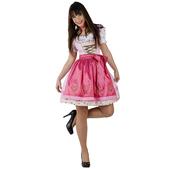 Vestido dirndel rosa para mujer