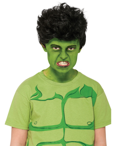 Peluca de Hulk Marvel para niño