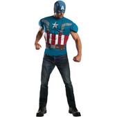 Disfraz de Capitán América Soldado de Invierno retro y musculoso para hombre