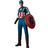 Disfraz de Capitán América: el Soldado de Invierno musculoso para hombre