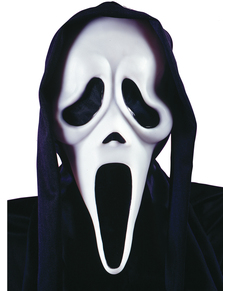 Máscara de fantasma Scream con capucha