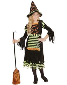 Disfraz de bruja neón para niña