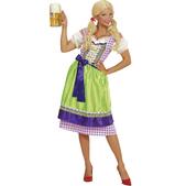 Disfraz con dirndl violeta-verde para mujer talla grande