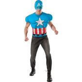 Camiseta del Capitán América Marvel deluxe para adulto