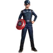 Disfraz de Capitán América vigilante: el Soldado de Invierno para niño