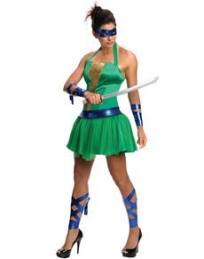Disfraz de Leonardo Las Tortugas Ninja para mujer