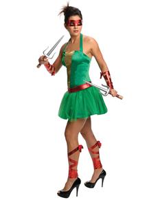 Disfraz de Raphael Las Tortugas Ninja para mujer