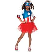 Disfraz de Capitán América tutú Marvel para niña