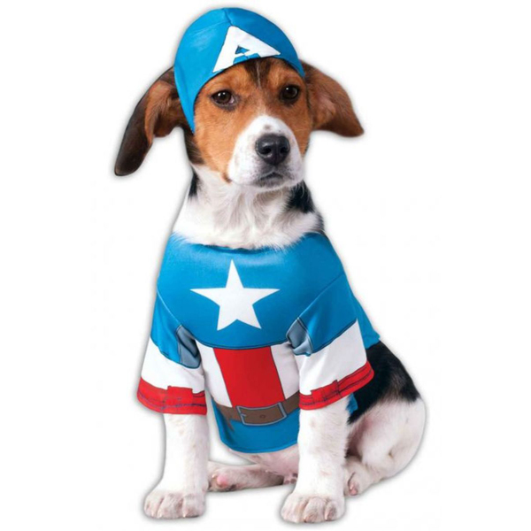 captain america kost m f r hunde funidelia. Black Bedroom Furniture Sets. Home Design Ideas