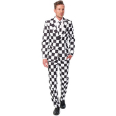 Traje Checked Black White Suitmeister