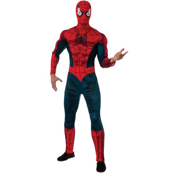 costume de spiderman marvel deluxe adulte funidelia. Black Bedroom Furniture Sets. Home Design Ideas