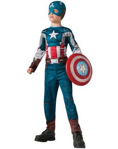 Disfraz de Capitán América retro: el Soldado de Invierno para niño