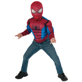 Kit disfraz The Amazing Spiderman II musculoso para niño