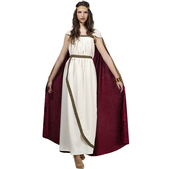Disfraz de reina troyana para mujer