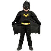Disfraz de superhéroe murciélago oscuro para niño