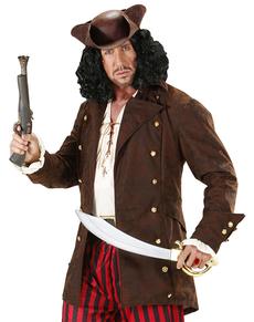 Chaqueta de pirata rudo para adulto talla grande