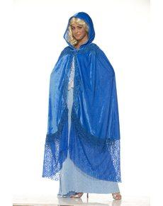 Capa de reina de dragones azul para mujer