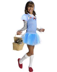 Disfraz de Dorothy El Mago de Oz con capucha para niña