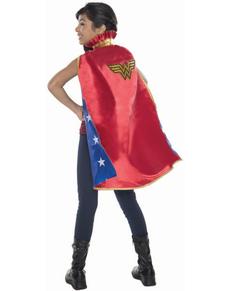 Capa de Wonder Woman DC Comics deluxe para niña