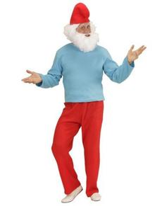 Disfraz de enanito azul pitufón para hombre