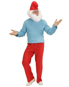 Disfraz de papá pitufón para hombre talla grande