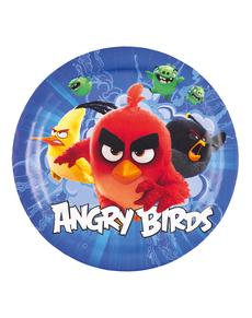Set de 8 platos Angry Birds 18 cm