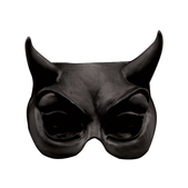 Máscara Half Mask Devil Black Halloween