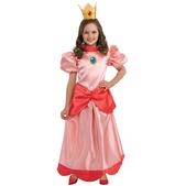 Disfraz de Princesa Peach niña
