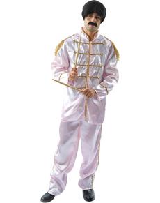 Disfraz de músico de Liverpool blanco para hombre