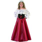 Disfraz de doncella para niña