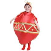 Disfraz de bola navideña para niña