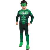 Disfraz de Linterna Verde Musculoso niño en caja