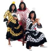 Disfraz de flamenca rojo/negro para hombre