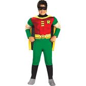 Fato de Robin musculoso para menino