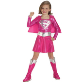 Costume de Supergirl rose fille