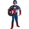 Disfraz de Capitán América Los Vengadores musculoso niño
