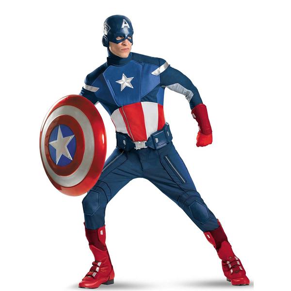 Disfraz de Capitán América Élite: comprar online