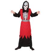 Disfraz de esqueleto rojo para niño