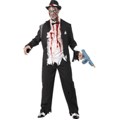 Disfraz de gángster zombie