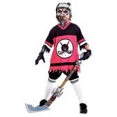 Fato de jogador de hockey zumbi para menino