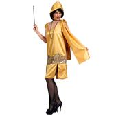 Disfraz de charlestón oro deluxe